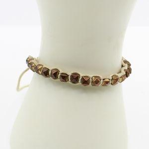Vintage bead and thread bracelet